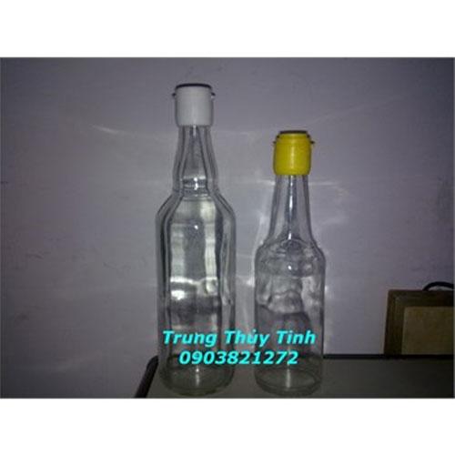 CHAI THỦY TINH 500ML - 300ML NẮP NHỰA