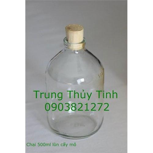 CHAI THỦY TINH 500ML LÙN CẤY MÔ