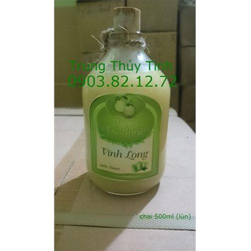 CHAI THỦY TINH 500ML LÙN NÚT BẦN(NÚT NHỰA)