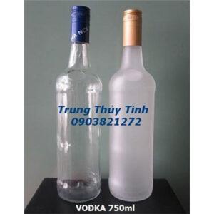 CHAI THỦY TINH TRÒN 750ML NẮP NHÔM
