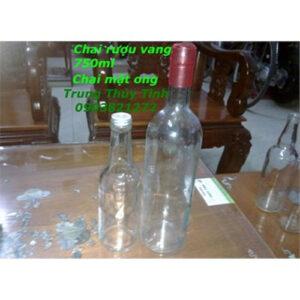 CHAI THỦY TINH VANG TRẮNG 750ML NẮP NHỰA