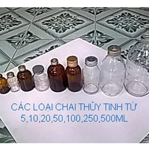 Chai thủy tinh 20ml đến 500ml đựng hóa chất