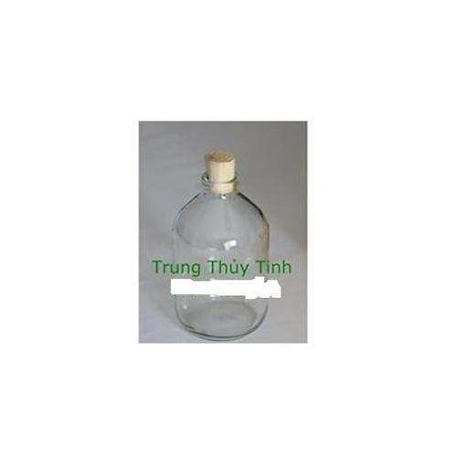 Chai thủy tinh 500ml lùn nút bần - nút nhựa