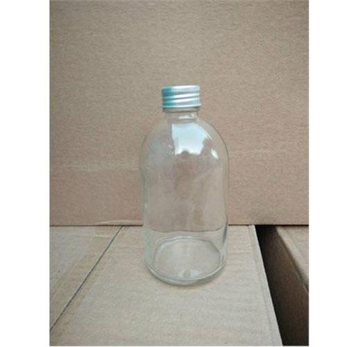 Chai thủy tinh 500ml trắng nắp nhôm đựng hóa chất