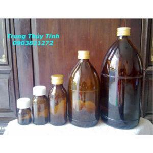 Chai thủy tinh đựng thuốc thú y hóa chất 20-30-50-100-250-500-1000ml