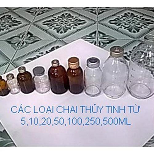 Chai thủy tinh nhỏ 10ml đến 100ml