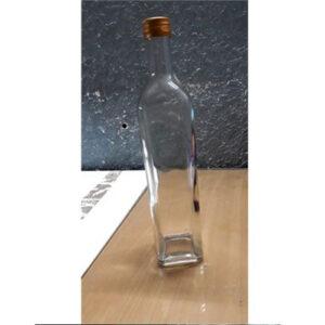 Chai thủy tinh vuông đựng mật ong 750ml nắp nhôm