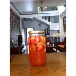 HŨ THỦY TINH 1000ML NẮP THIẾC