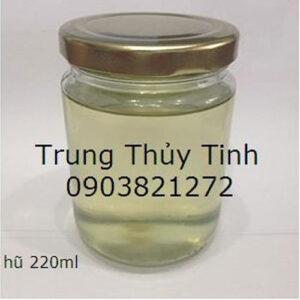 HŨ THỦY TINH 220ML NẮP THIẾC ĐỰNG DẦU DỪA
