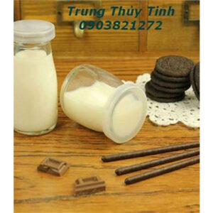 HŨ THỦY TINH PUDDING 100ML CAO VÀ YAOURT (PUDDING LÙN) ĐỰNG SỮA CHUA