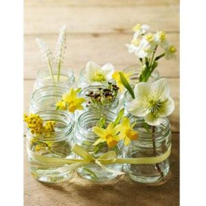 Hũ thủy tinh 120ml cắm hoa