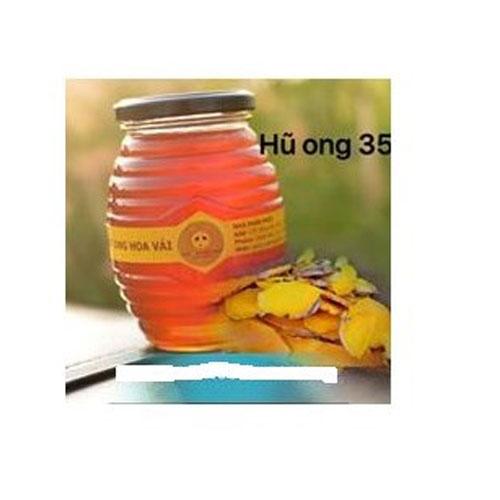Hũ thủy tinh ong 350ml nắp thiếc